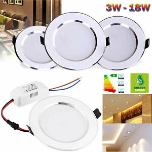 Dimmable LED Recessed Ceiling Downlight 3W 5W 7W 9W 12W 15W 18W Light Lamps RD