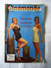 MARILYN MONROE +ESTHER WILLIAMS on cover/ french magaine CINEMONDE 1951