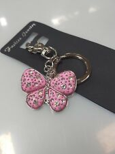 100x Keyring butterfly with diamonds bombonniere,wedding favour,keyring,keychain