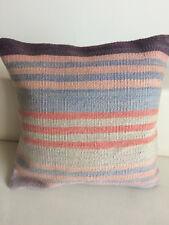 "Kilim Pillow Cover 16x16""(40x40cm) Vintage Turkish Kilim Cushion Cover Handmade"