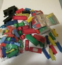 Vintage Large Lot Of Toy Plastic Trains, Cars Trucks..Plasticraft & Other
