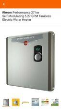 RHEEM PERFORMANCE ELECTRIC TANKLESS WATER HEATER RETEX-27