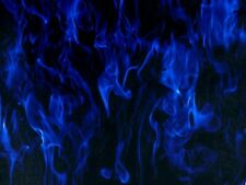 """🌟Special offer 🌟 QUALITY hydrographic water transfer 19X393"""" FILM BLUE FLAME"""