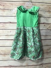 Holiday Christmas Girls Size 7? Handmade Christmas Holly Dress Sleeveless Xmas