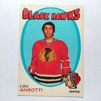 1971-72 OPC O-Pee-Chee #212 Lou Angotti Chicago Blackhawks - EXMT