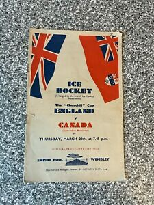 Wembley Empire Pool - The Churchill Cup - Ice Hockey Programme 1952