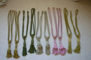 5 Pairs Coloured Decorative Knot Tassel Rope Curtain Tie Backs