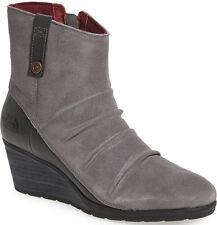 6a012916f653 NEW NORTH FACE Bridgeton Waterproof Leather Wedge Zip Bootie 10 Grey Garnet  Red
