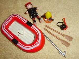 Playmobil Schlauch-Boot mit Figur und Zubehör ?