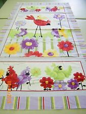 Bird SB20139-620 Panel by Susybee  100%  Cotton Fabric priced by 2/3 yard