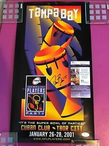 Rookie Drew Brees #15 Signed NFL Players Party Poster Tampa FL 2001 JSA COA