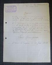 SAINT VAAST LA HOUGUE (manche) lettre entete épicerie mercerie Hennequin 1932