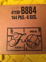 1995-96 Fleer Flair Series 2 Basketball Hobby Box Factory Sealed Case 6 box
