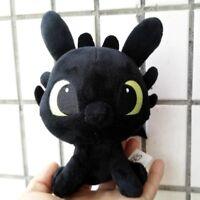 "6"" 15cm mini Movie How to Train Your Dragon Night Fury Toothless Soft Plush toys"