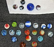 "25pc LOT  VINTAGE Glass MARBLES Peltier? Alley? Snake? Jabo? King? 1"" Shooter"