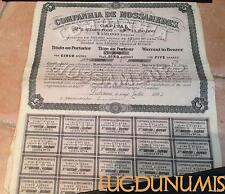Companhia de Mossamedes – Lisbonne Juillet 1894 Titre de 5 Actions