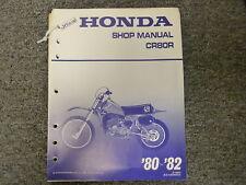 1980 1981 1982 Honda CR80R Dirt Bike Motorcycle Shop Service Repair Manual