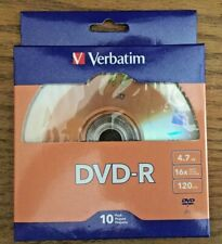 VERBATIM  DVD-R 10 PACK RECORDABLE 120 MINUTE DISCS—NEW IN PACKAGE!(A1)