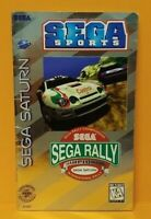 Sega Rally Championship  -  Sega Saturn Instruction MANUAL ONLY  - No Game !!
