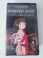 Spirited Away (Vhs, 2003, Widescreen) Hayao Miyazaki Studio Ghibli Disney Anime