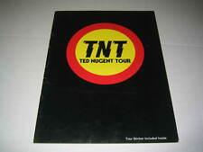 TED NUGENT 1978 TNT CONCERT TOUR ORIGINAL SOUVENIR PROGRAM (508)