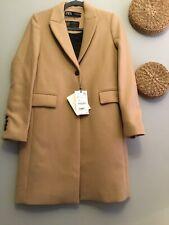 Zara Camel  Masculine Cut  Wool Coat Size XS Genuine Zara