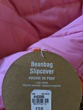 Pottery Barn Large Unfilled Pink Bean Bag Cover-Brand New