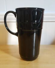 Longaberger Woven Tradition Ebony/Black Travel Coffee Mug - No Lid - Ex. Condit.