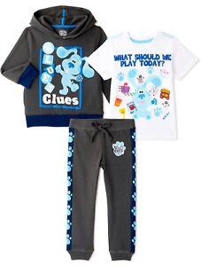 Blue's Clues & You Toddler Hoodie Sweatshirt Graphic T-Shirt Jogger Pant Boy 4T