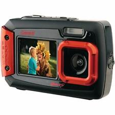 Coleman Duo2 20 MP Waterproof Digital Camera with Dual LCD Screen (Red)