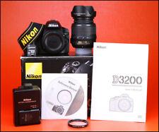 Cámara SLR Nikon D3200 D + Nikon AF-S 18-55mm Kit de Lente Zoom VR-sólo 2,022 disparos