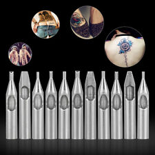 11 Pcs Stainless Steel Tattoo Nozzle Tips for Machine Gun Needles Tube Kit Box