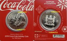 Coca-Cola Holiday Coin   1 $ 2019   Fiji    1 Oz. Silber