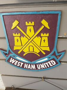 West Ham United Cast Iron Sign  Man Cave/Wall Plaque COME ON YOU IRONS !!