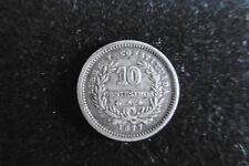 URUGUAY 1877 Argent 10 centesimos, Pièce de Monnaie Ancienne / Old Silver Coin
