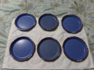 Dansk Mesa Blue 6 Salad  Plate Lot