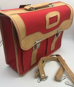 Red Messenger Luggage Travel Case Tote Bag w/Carry Strap Laptop Bag