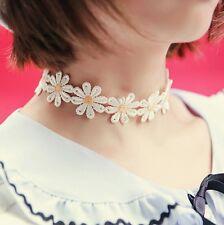 Sweet White Lolita Lace Choker Daisy Flower Yellow Collar Necklace Jewelry Gift