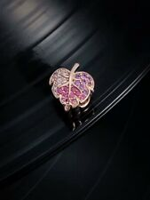 Christmas Gift Pandora Rose Gold Pink Sparkling Pave Leaf Charm-788322NPMMX