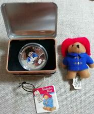 Includes a Paddington Bear plushie proof silver coin Super Rare From Japan