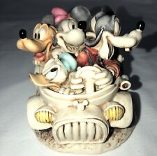 Disney Harmony Kingdom Fab Five Out For A Drive Box Figurine Mickey Goofy Pluto