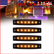 4X Amber Marker LED Grille Grill Lights For Ford Toyota Tacoma Bumper Decoration