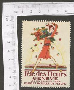 Switzerland 1928 Geneva Flower Festival poster stamp MNH