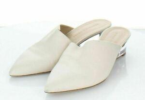 21-66 $395 Women Sz 8 M Veronica Beard Ricky Leather Mule In White