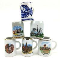 Miniature Steins Mini Beer Mugs Lot Of 6