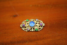 Antique Multicoloured Paste Brooch for your doll (#15)