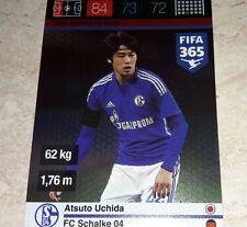CARD ADRENALYN FIFA 365 CALCIATORI PANINI SHALKE 04 UCHIDA CALCIO