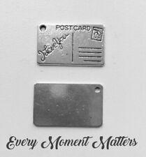 20pcs Metal Pendant Silver Finding DIY Postcard 29x29x1mm