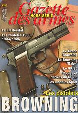 LES PISTOLETS  BROWNING/GAZETTE DES ARMES HORS SÉRIE N°15/NEUF