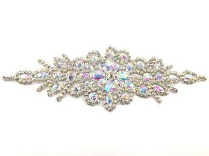 Beautiful Iron on Motif Hand Sewing on Bridal Dress Belt Clothes Appliques, Belt